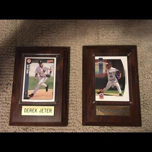 Accessories - Derek Jeter & Pedro Martinez baseball plaques